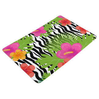 Tropical flowers and skin are animal. Summer Floor Mat