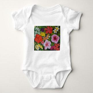 Tropical Flowers Baby Bodysuit