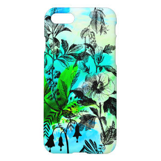 Tropical Flowers Beach Vibes Blue Green iPhone 7 Case
