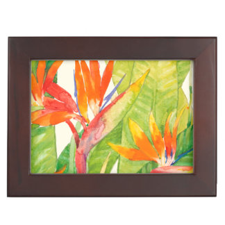 Tropical Flowers | Bird of Paradise Keepsake Box