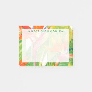 Tropical Flowers   Bird of Paradise Post-it Notes