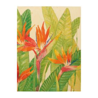 Tropical Flowers   Bird of Paradise Wood Wall Art