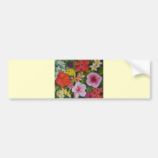 Tropical Flowers Bumper Sticker