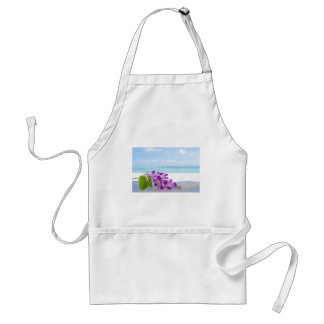 Tropical Flowers by the beach Apron