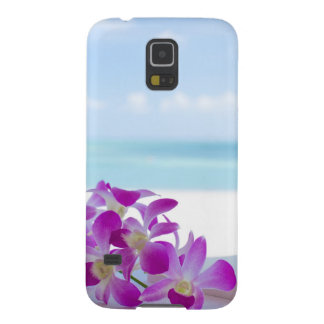 Tropical Flowers by the beach Galaxy S5 Cases