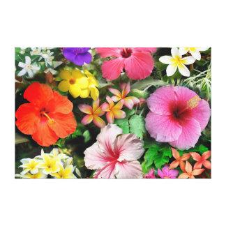 Tropical Flowers Canvas Print