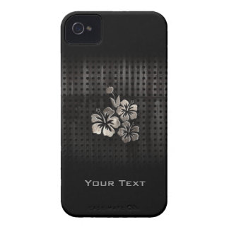 Tropical Flowers Cool Black iPhone 4 Cases