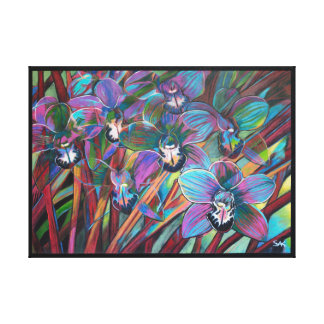 Tropical Flowers, Cymbidium Carnival 2 Canvas Print