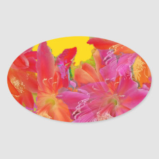 Tropical Flowers Gifts Designed by Sharlesfineart Oval Sticker