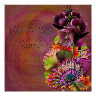 Tropical Flowers Mother's Day Bouquet Posters