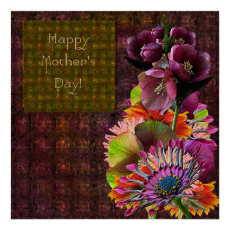 Tropical Flowers Mother's Day Bouquet Print