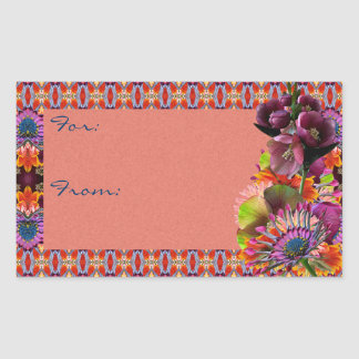 Tropical Flowers Mother's Day Bouquet Stickers