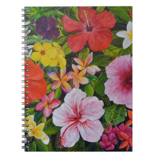 Tropical Flowers Notebooks