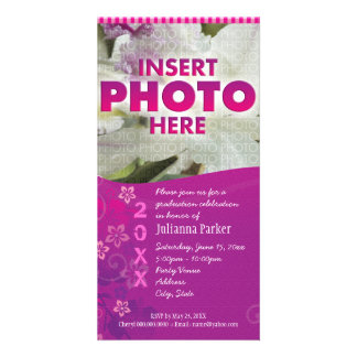 tropical flowers.pc photo card template