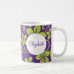 Tropical Flowers Personalised Mug