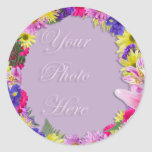 Tropical Flowers Picture Frame, Beach Wedding