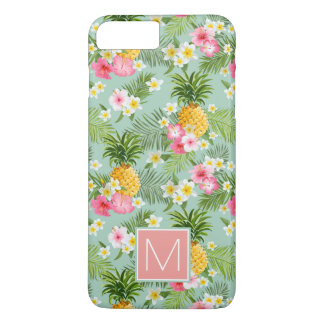 Tropical Flowers & Pineapples   Add Your Initial iPhone 8 Plus/7 Plus Case
