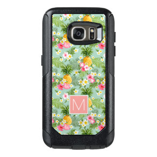 Tropical Flowers & Pineapples | Add Your Initial OtterBox Samsung Galaxy S7 Case