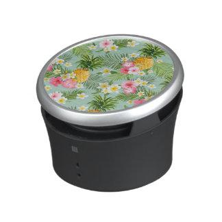 Tropical Flowers & Pineapples Bluetooth Speaker