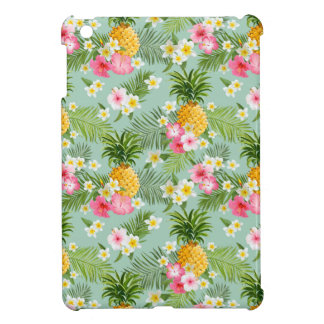 Tropical Flowers & Pineapples iPad Mini Covers