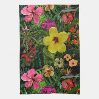 Tropical Flowers Tea Towel