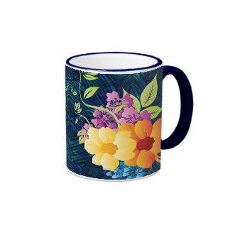 Tropical Flowers & Vines Mug