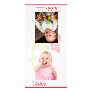 Tropical Flowers Wedding Personalized Photo Card