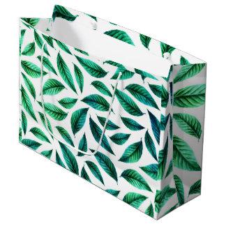 Tropical Foliage Pattern Large Gift Bag