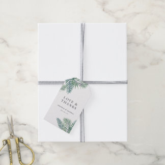 Tropical Foliage Wedding Favor Gift Tags