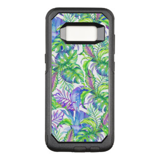 Tropical Foliage Yellow Pink Green Blue Lavender OtterBox Commuter Samsung Galaxy S8 Case