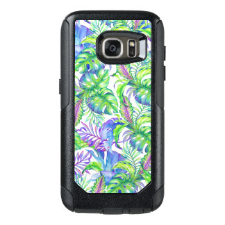 Tropical Foliage Yellow Pink Green Blue Lavender OtterBox Samsung Galaxy S7 Case