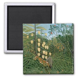 Tropical Forest, Henri Rousseau Magnets