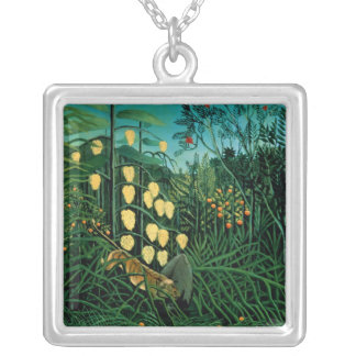 Tropical Forest Silver Plated Necklace