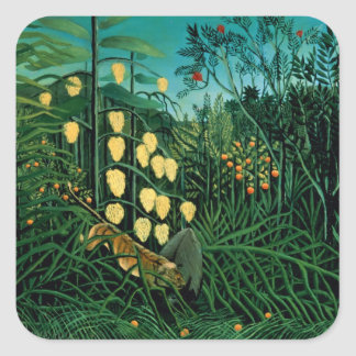 Tropical Forest Square Sticker