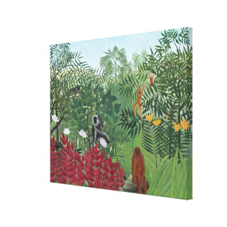 Tropical Forest with Monkeys, 1910 (oil on canvas) Canvas Print