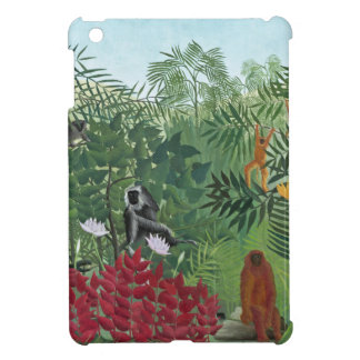 Tropical Forest with Monkeys, 1910 (oil on canvas) iPad Mini Cover