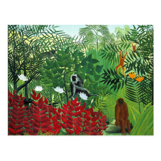 Tropical Forest with Monkeys Postcard