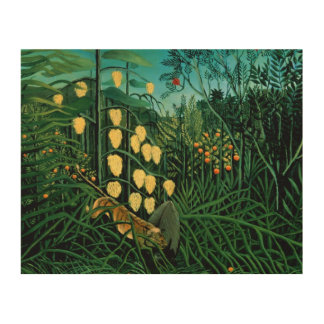 Tropical Forest Wood Canvas