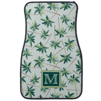 Tropical Foxtail Palm | Add Your Initial Car Mat