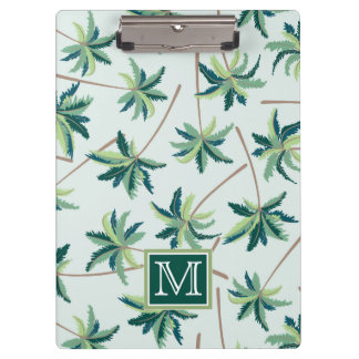 Tropical Foxtail Palm | Add Your Initial Clipboard