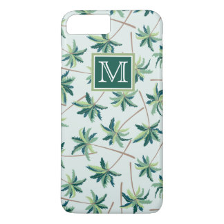 Tropical Foxtail Palm | Add Your Initial iPhone 8 Plus/7 Plus Case