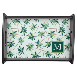 Tropical Foxtail Palm | Add Your Initial Serving Tray