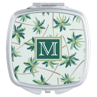 Tropical Foxtail Palm   Add Your Initial Travel Mirror