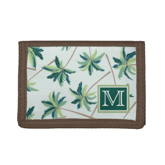 Tropical Foxtail Palm | Add Your Initial Trifold Wallet