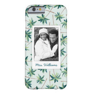 Tropical Foxtail Palm | Add Your Photo & Name Barely There iPhone 6 Case