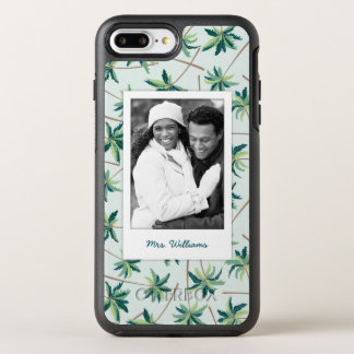 Tropical Foxtail Palm | Add Your Photo & Name OtterBox Symmetry iPhone 7 Plus Case