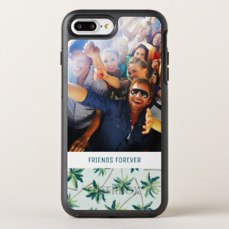 Tropical Foxtail Palm | Add Your Photo & Text OtterBox Symmetry iPhone 8 Plus/7 Plus Case