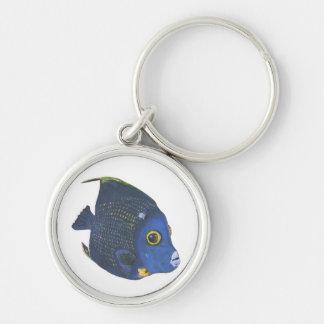 Tropical French Angelfish Keychain