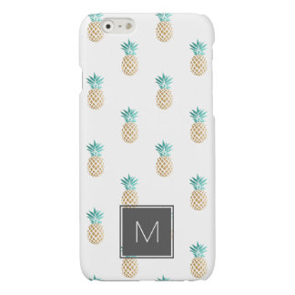 tropical fresh summer faux gold pineapple pattern iPhone 6 plus case