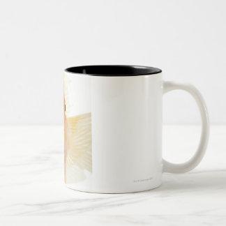 Tropical freshwater fish Two-Tone coffee mug